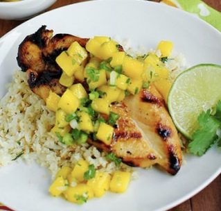 Jamaican Jerk Chicken with Coconut Rice, Broccoli, and ...